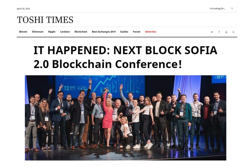 Herbert Sim Featured on Toshi Times, About NEXT BLOCK SOFIA